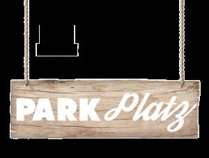 Holztafel Parkplatz